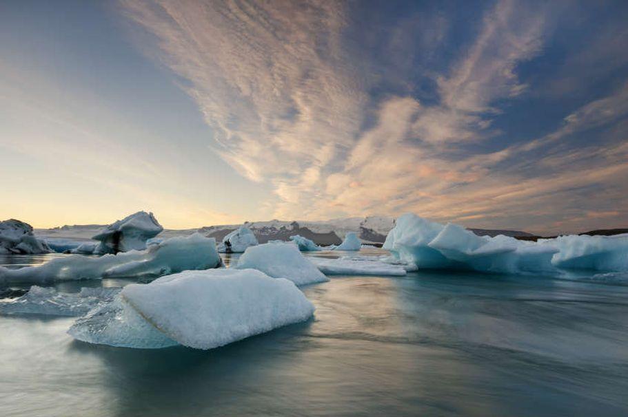 Flugreise Island - Gletscher