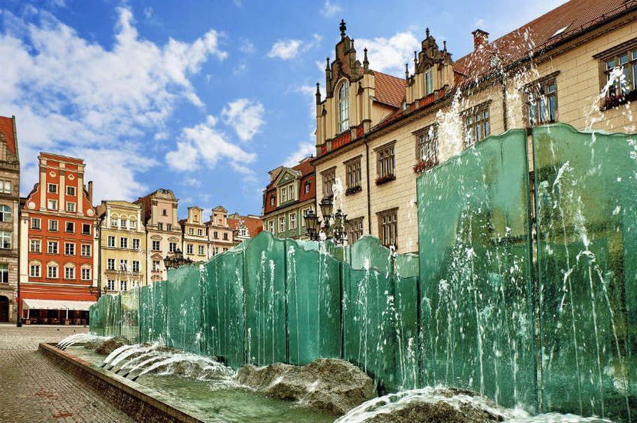 Städtereise Breslau - Brunnen