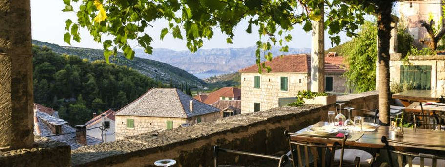 Kroatien Ausblick aus Restaurant