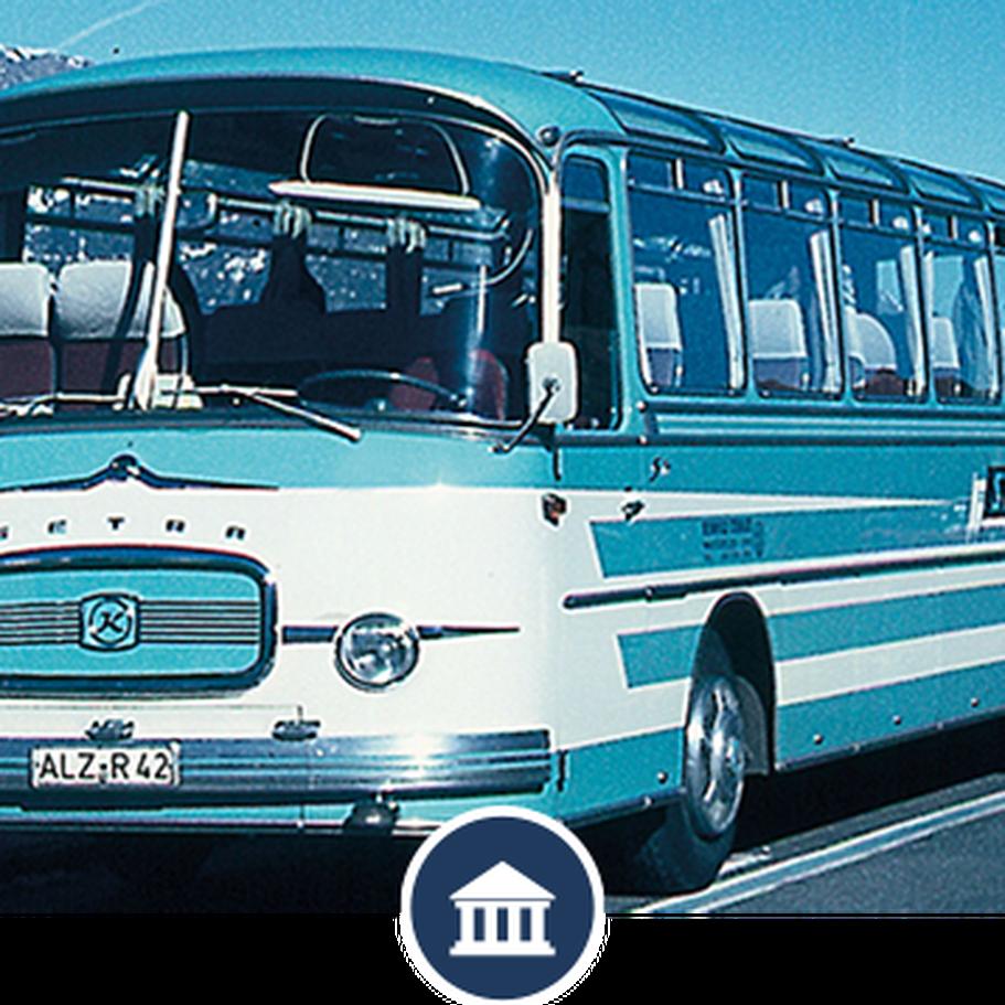 Erfahrung in der Reisebranche - alter STEWA-Reisebus