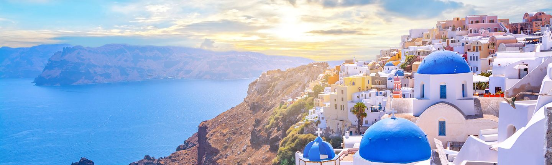 Flugreise Griechenland Santorini Oia