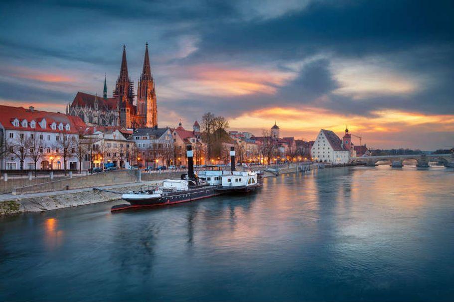 Städtereise Regensburg - am Abend