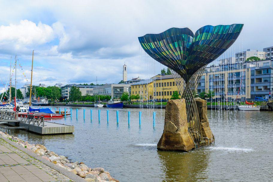 Flugreise Finnland -  Turku Wasserbrunnen