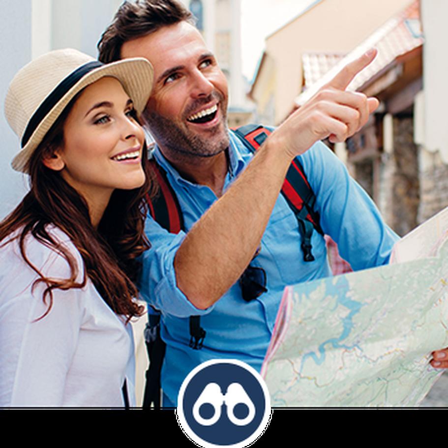 Reiseleiter zeigen Ihnen die spannendsten Orte auf der Karte