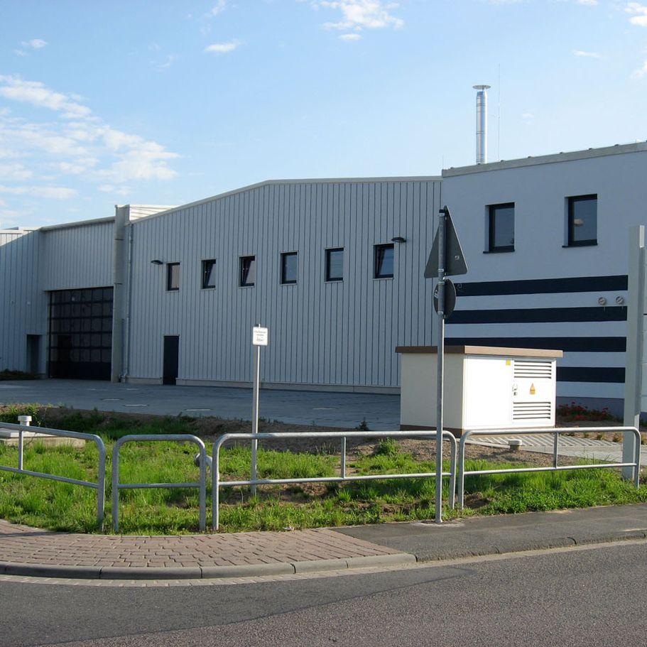 Bau des STEWA Reisezentrums in Kleinostheim
