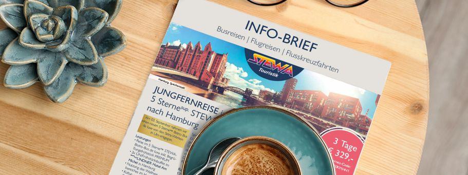 STEWA Info-Brief Reisemagazin-Broschüre zum Lesen