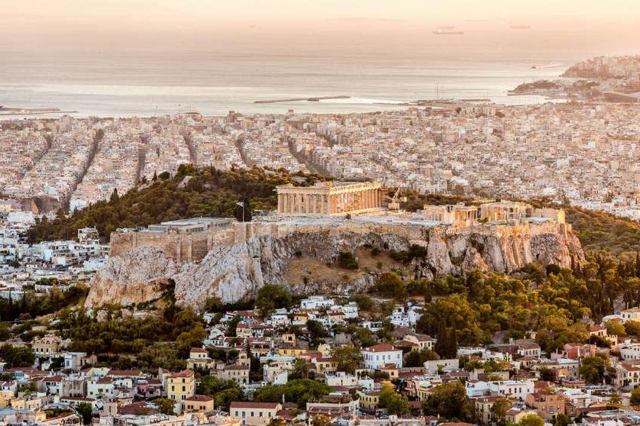 Flugreise Griechenland - Tempel Athen